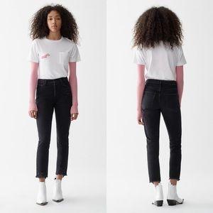 AGOLDE Jamie High Rise Classic Jeans Plume Black